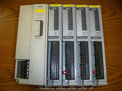 Aeg Modicon Pc-m984-230 Programmable Controller 4 Io Modules