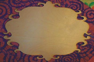 Unfinished Wood Wooden Plaque Fancy P19 - 12'' X 18
