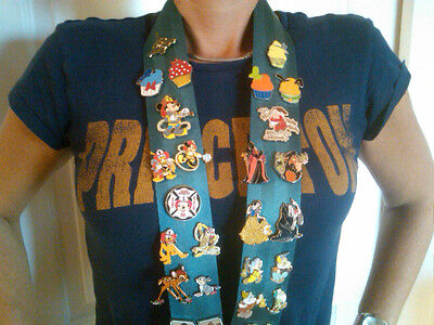 Heavy Duty Large Lanyard For Disney Pin Wide 2 Strap Ariel Teal Jumbo Pins Fit
