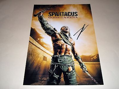 """SPARTACUS : GODS OF THE ARENA PP SIGNED 12""""X8"""" POSTER"""