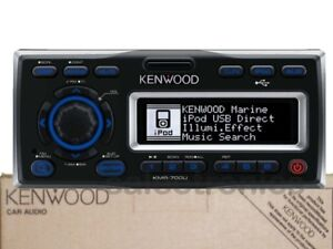 Kenwood-KMR-700U-iPod-Ready-Marine-Boat-Stereo-Receiver-USB-input-MP3-WMA