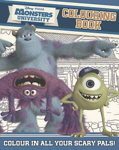 Disney Pixar Monsters University Colouring Book - New Book