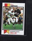 Topps Buffalo Bills Football Trading Cards Set