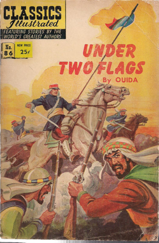 CLASSICS ILLUSTRATED #86 UNDER TWO FLAGS (HRN 167) 1966