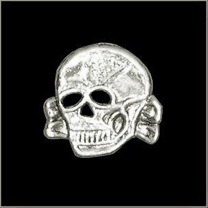 Toxic Skull Chrome Polished Biker Pin