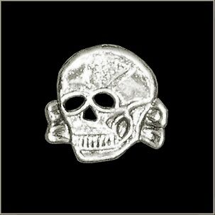 Toxic Skull Chrome Polished Biker Pin