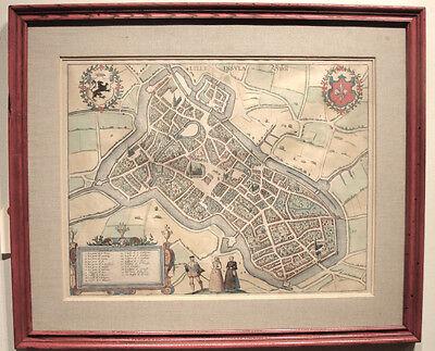 Европа Original hand colored Antique 1572