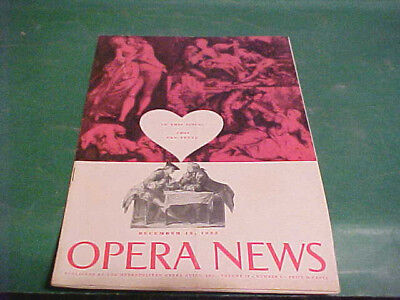 DECEMBER 12 1955 OPERA NEWS MAGAZINE COSI FAN TUTTE