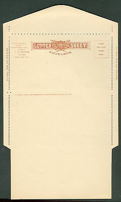 1879 American Bank Note Private Letter Sheet Unfolded
