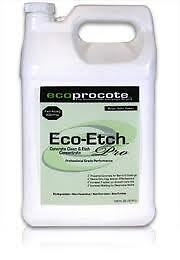 Eco etch pro concrete etch clean concentrate 1 gallon ebay for Environmentally friendly concrete cleaner
