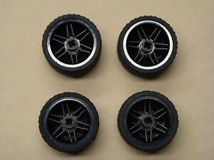 NEW-4-Lego-NXT-Technic-Wheels-TIRES-RIMS-37-x-22-LARGE