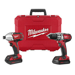 Milwaukee-18V-Cordless-M18-Lithium-Ion-2-Tool-Combo-Kit-with-Case-2691-82