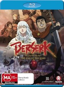BERSERK - THE EGG OF THE KING Golden Age Arc I BLU RAY Region B Brand NEW!