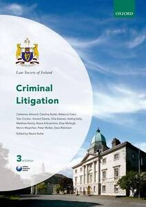 NEW Criminal Litigation (Law Society of Ireland Manuals) by Maura Butler