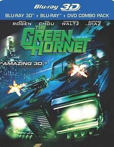 The Green Hornet (3D Blu-ray+ Blu-ray + DVD, 2011, 3-Disc Set, 3D) NEW SEALED