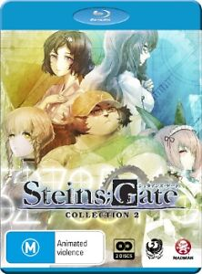 Steins;Gate : Collection 2 : Eps 13-25 (Blu-ray, 2013, 2-Disc Set)-FREE POSTAGE