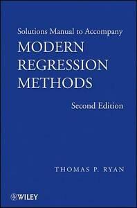 Modern Regression Methods, Thomas P. Ryan