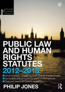 Public-Law-and-Human-Rights-Statutes-2012-2013-by-Philip-Jones-Paperback