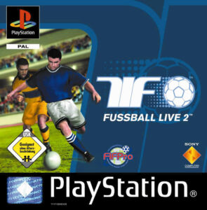 TiF 2-Fussball Live 2 (Sony PlayStation 1, 2000)-Cover akzeptabel-Spiel sehr gut