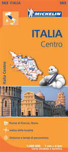 ITALY CENTRE MAP - MICHELIN 563 - NEW - 2016 - ROMA