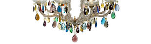 Colored chandelier prism Store Plus