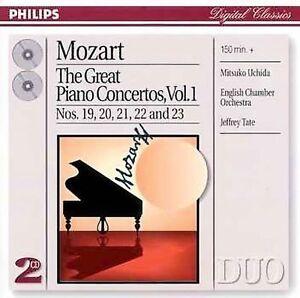 Mozart: The Great Piano Concertos Vol. 1, Mitsuko Uchida, Jeffrey Tate, Ta, Very