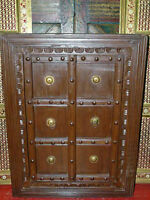 Antique Wooden Window Frame Hand Carved Rustic Furniture From India .It Is  A Great Decorative Solid Wood Window Shutters.