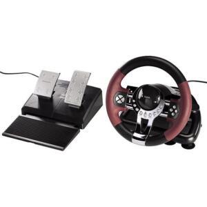Hama Racing Wheel Thunder V5 Lenkrad Rennlenkrad für PC und PS3 Vibration USB