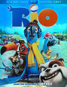Rio (Blu-ray/DVD, 2011, 3-Disc Set, Incl...