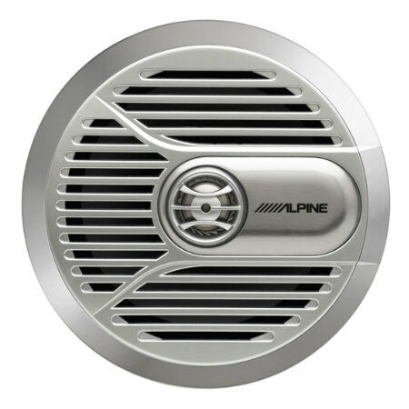 Alpine SPR-M700 7-Inch Type-R Marine Speakers with Silver Grilles