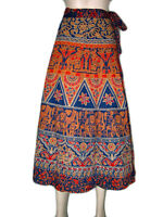 Mothers Day Gift- Boho Gypsy Cotton Wrap Skirt
