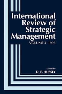 International Review of Strategic Management 1993, David Hussey