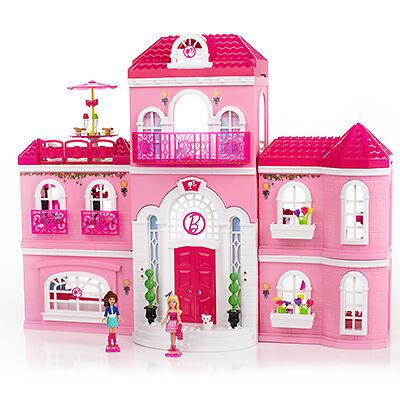 barbies exklusive wohnsitze rund um die welt barbie haus glam haus barbie schloss ebay. Black Bedroom Furniture Sets. Home Design Ideas
