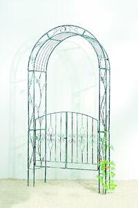 rosenbogen mit tor t ren pergola torbogen metall ebay. Black Bedroom Furniture Sets. Home Design Ideas
