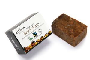 Akoma African Black Soap from Ghana ( Bars) 110g