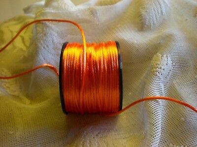 Orange Rattail Rat Tail Cord Bridal Satin Ribbon 50y