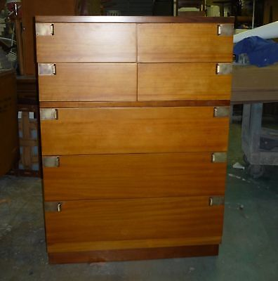 CHIC MID CENTURY MODERN  ARCHITECTURAL CAMPAIGN BACHELORS CHEST
