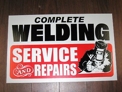 Auto Or Metal Work Shop Sign: Complete Welding Service