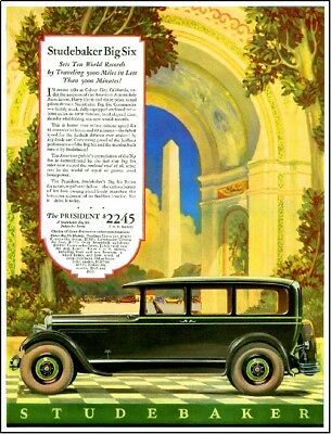 Studebaker Automobile Car Advertisement Poster Print