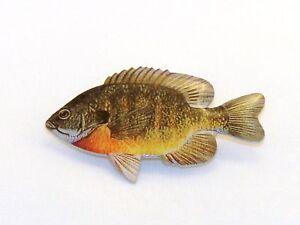 Bluegill fish hat pin free fish hook hat pin ebay for Fishing hat pins