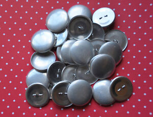 DIY 50 x self cover metal shank buttons size 45 (28mm)
