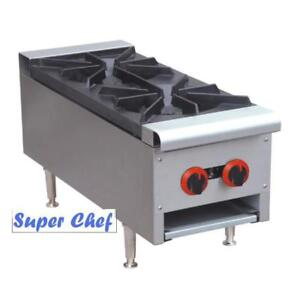 New Gas Counter Top Hot Plate 2 Burner.