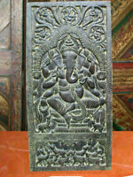 Antique Door Ganesh Carved Wall Panel Home Decor India