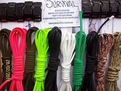 Paracord 550 Friendship survival bracelet making kit. makes 10 bracelets!!