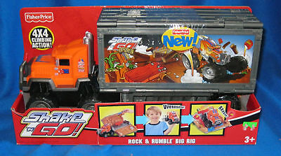FISHER PRICE SHAKE N GO ROCK & RUMBLE BIG RIG NEW