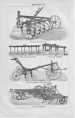 STICH von 1905 KULTIVATOR Grubber Egge Pflug Massey Landmaschinen Landwirtschaft