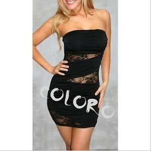 Halter-mini-dress-nightclub-wear-stitching-lace-style