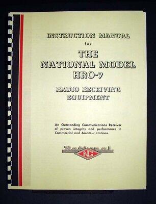 National Hro-7 Hro7 Radio Receiver Manual Shortwave Ham