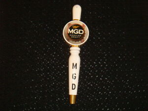 MGD-Miller-Genuine-Draft-MLB-BASEBALL-Beer-Tap-Keg-Handle-Knob-Barrel-Brew-Lever