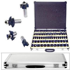 80pc-1-2-Shank-Tungsten-Carbide-Router-Bit-Set-3-Blade-Power-Tools-Accesories